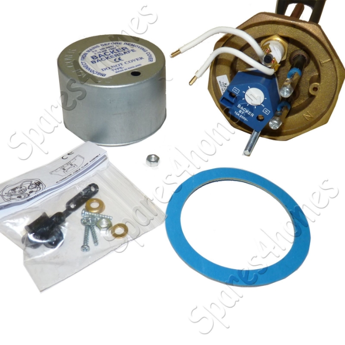 27 immersion heater copper hot water element thermostat backersafe, Wiring diagram